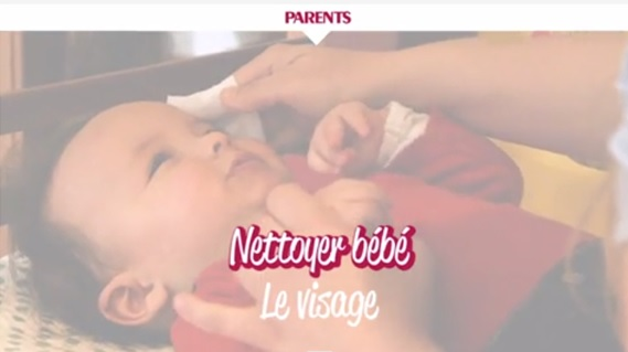 Cap Enfants article parents nettoyer visage bébé